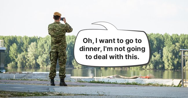 The soldier decided not to report the sighting to avoid missing dinner   Source: Shutterstock