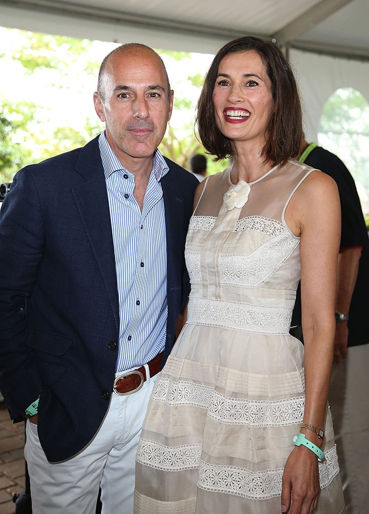 Matt Lauer and Annette Roque. I Image: Getty Images.