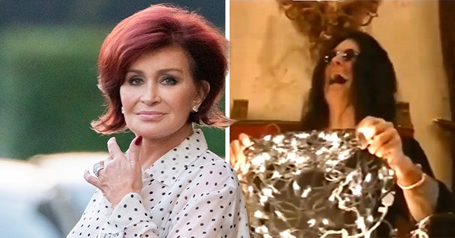Sharon Osbourne Amuses Fans Showing Husband Ozzy Struggling with Christmas Lights — See Video