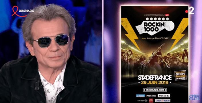 Philippe Manoeuvre fait la promotion de Rockin'1000 sur le plateau d'On n'est pas couché. | Youtube/On n'est pas couché