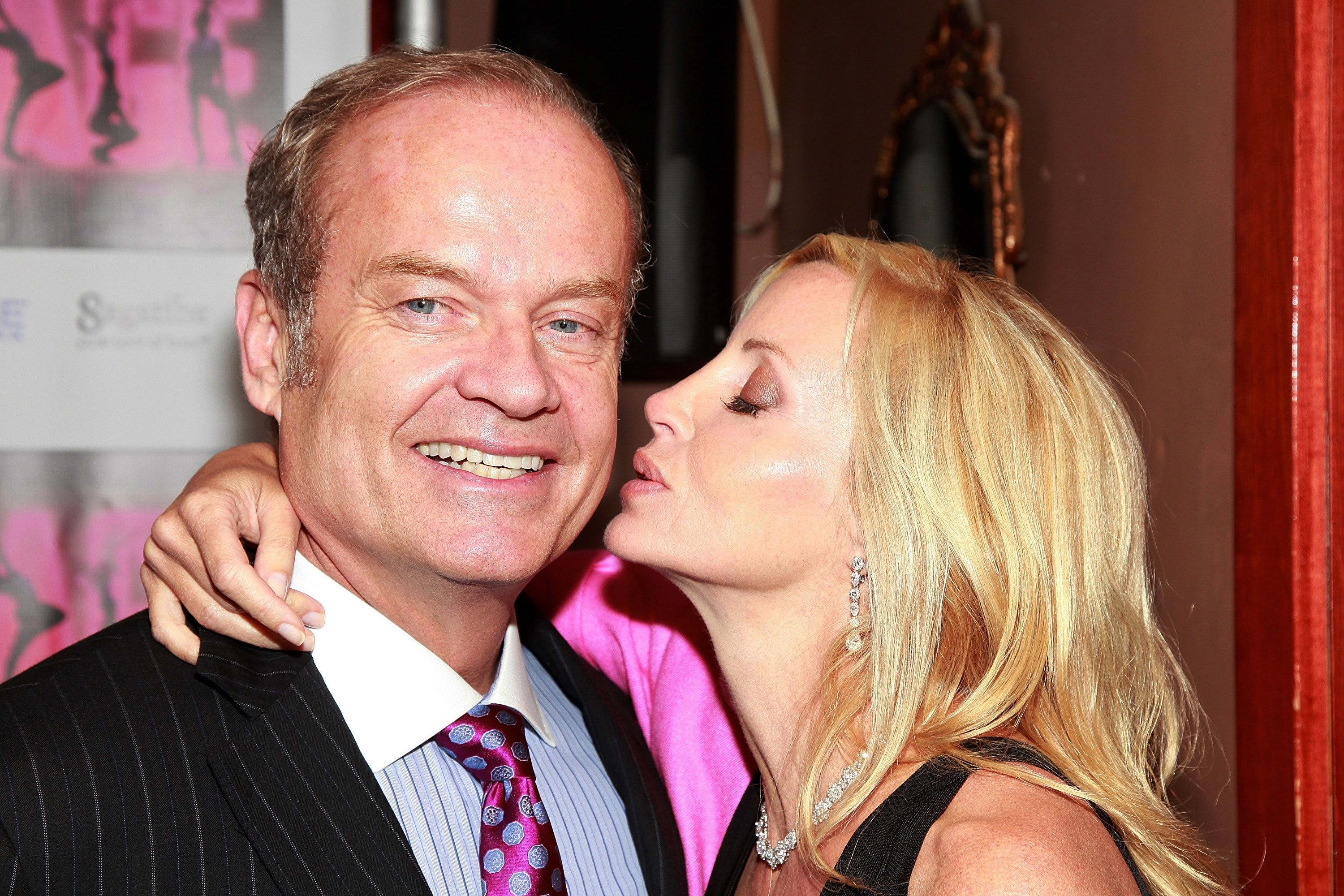 """Kelsey Grammer and Camille Donatacci Grammer at the after party for the opening of """"La Cage Aux Folles"""" on Broadway in 2010 in New York City 