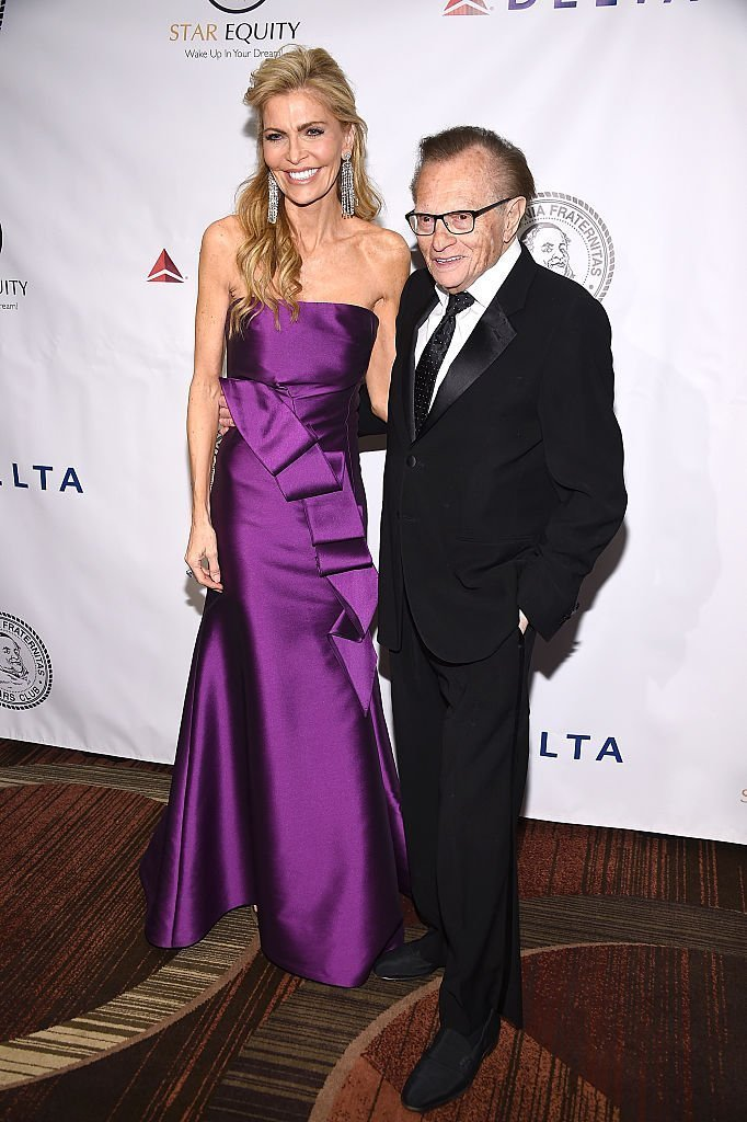 Larry King and Shawn Southwick at the Friars Club in New York City | Source: Getty Images