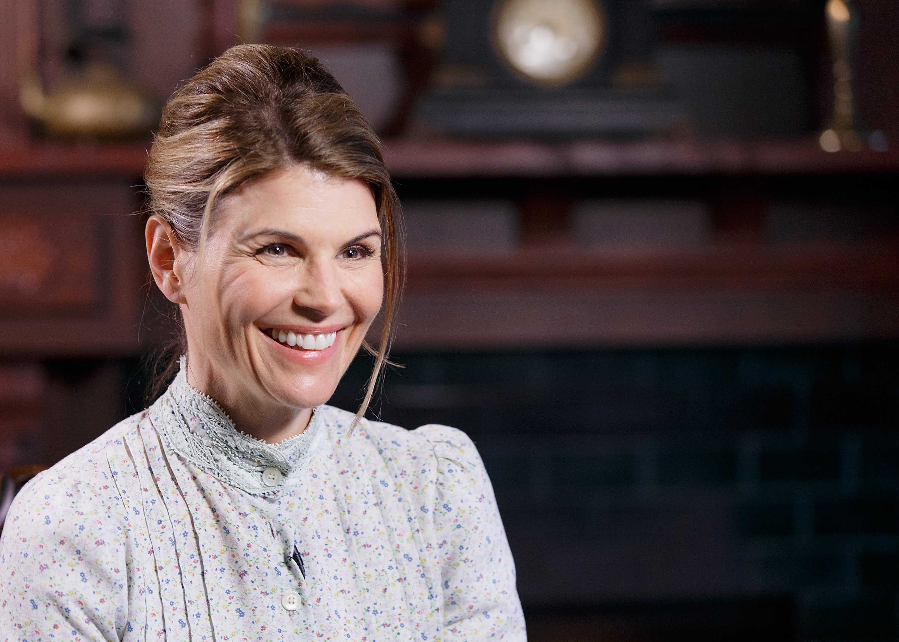"Actress Lori Loughlin on the set of ""When Calls the Heart"" 