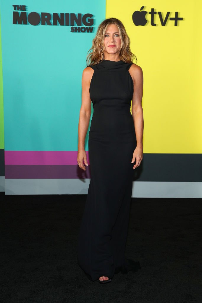 "Jennifer Aniston attends Apple TV+'s ""The Morning Show"" World Premiere at David Geffen Hall. 