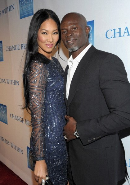 "Kimora Lee Simmons and Djimon Hounso at the 3rd Annual ""Change Begins Within"" Benefit Celebration on December 3, 2011 