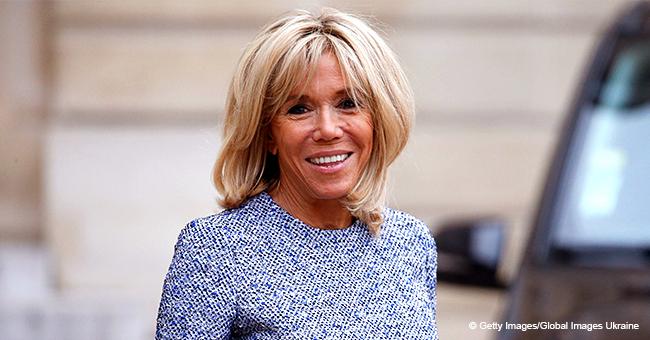 """Brigitte Macron """"ravie"""" de l'installation d'un nouveau tapis au Palais de l'Élysée il y a 3 mois"""