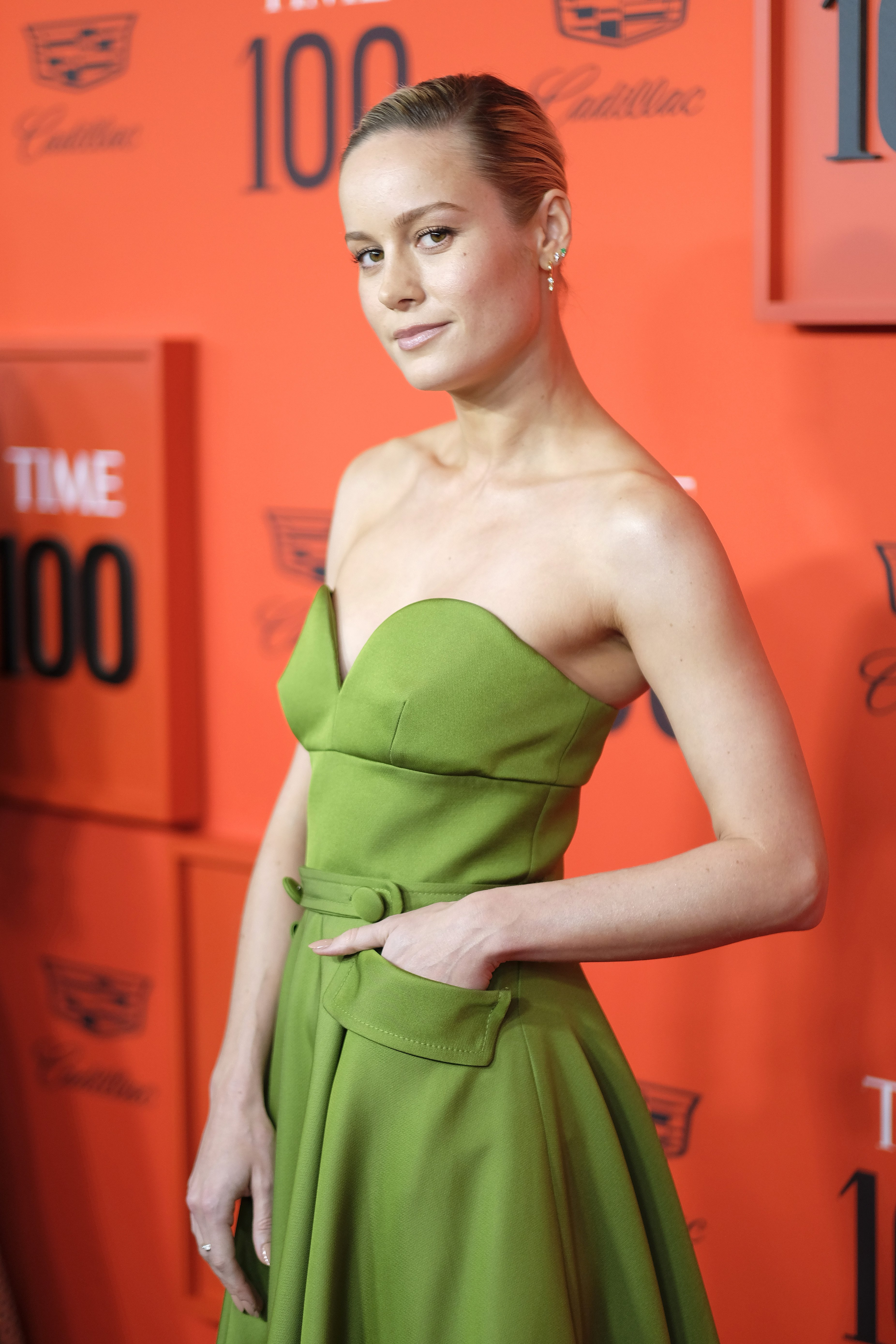 Brie Larson at the TIME 100 Gala Red Carpet on April 23, 2019 in New York City.   Photo: Getty Images