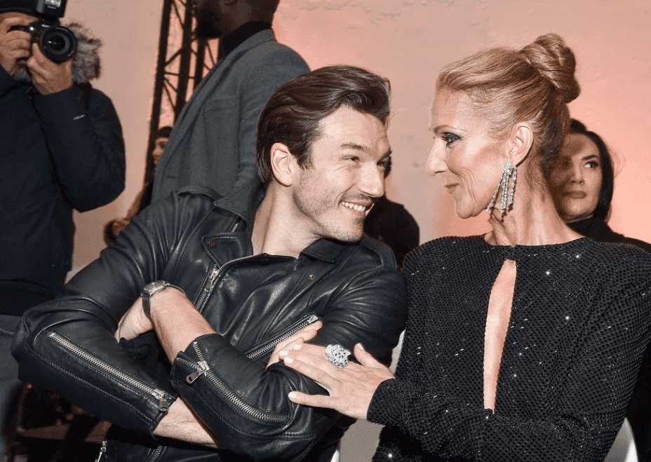 Celine Dion and Pepe Munoz at the Alexandre Vauthier Fashion Show. Image credit: Getty/GlobalUkraineImages
