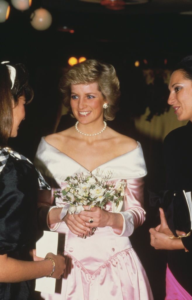 """Princess Diana at the gala premiere of """"Dancers"""" on December 7, 1987 