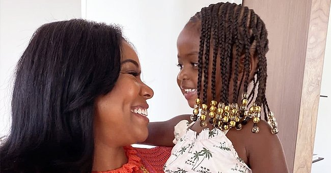 Gabrielle Union's Daughter Praised for Showing Her Braids with Gold Beads in a Printed Ensemble