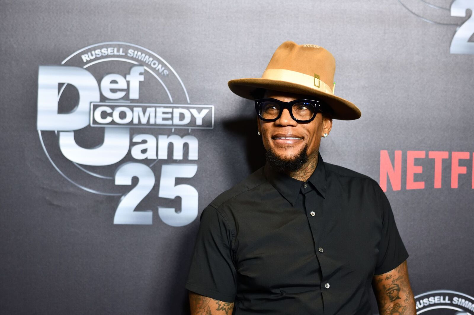 """D.L. Hughley at """"Def Comedy Jam 25"""" in Beverly Hills in 2017. 