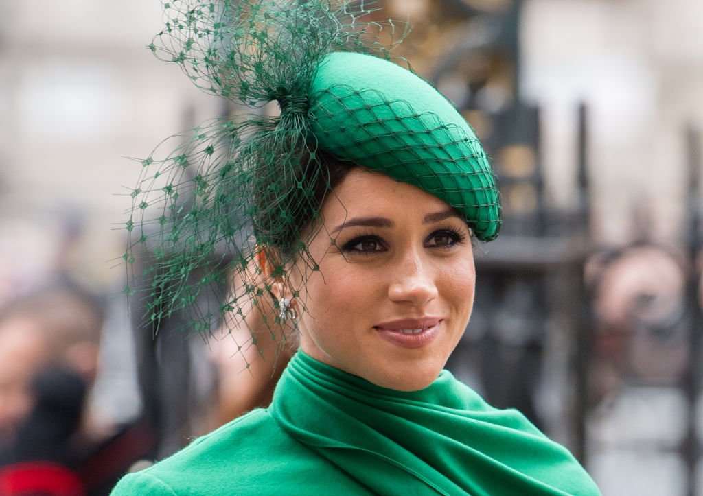 The Duchess of Sussex, Meghan Markle, stuns in an emerald green ensemble | Photo: Getty Images