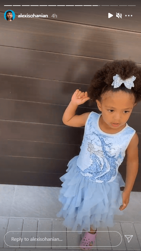 Another angle of Alexis Olympia Ohanian, Jr. wearing her adorable tutu dress.   Photo: instagram.com/alexisohanian