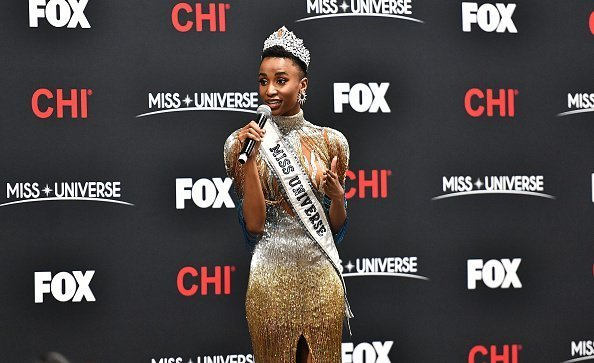 Miss Universe 2019 Zozibini Tunzi, of South Africa, appears at a press conference following the 2019 Miss Universe Pageant at Tyler Perry Studios on December 08, 2019 in Atlanta, Georgia | Photo: Getty Images