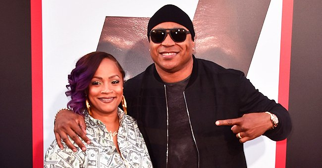 LL Cool J's Wife Simone Smith Stuns in Red & Pink Jacket with Matching Hat and Hoop Earrings