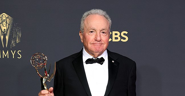 """Lorne Michaels, winner of Outstanding Variety Sketch Series for """"Saturday Night Live"""", poses in the press room during the 73rd Primetime Emmy Awards, September 2021 