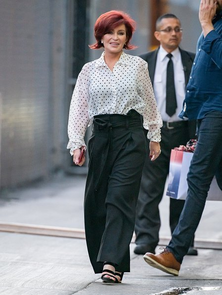 Sharon Osbourne is seen at 'Jimmy Kimmel Live' in Los Angeles, California. | Getty Images