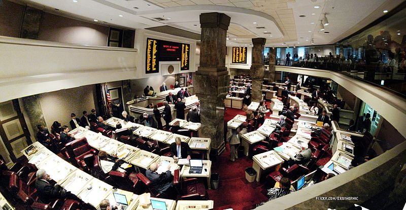 Panorámica dentro del salón de la Cámara de Representantes de Alabama. | Imagen: Wikimedia Commons