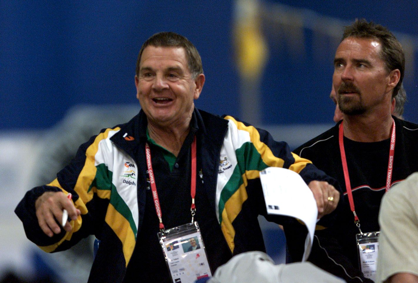 Don Talbot National Swim Coach of Australia at the Chandler Aquatic Centre during the Goodwill Games in Brisbane, Australia on  September 2, 2001. | Photo: Getty Images