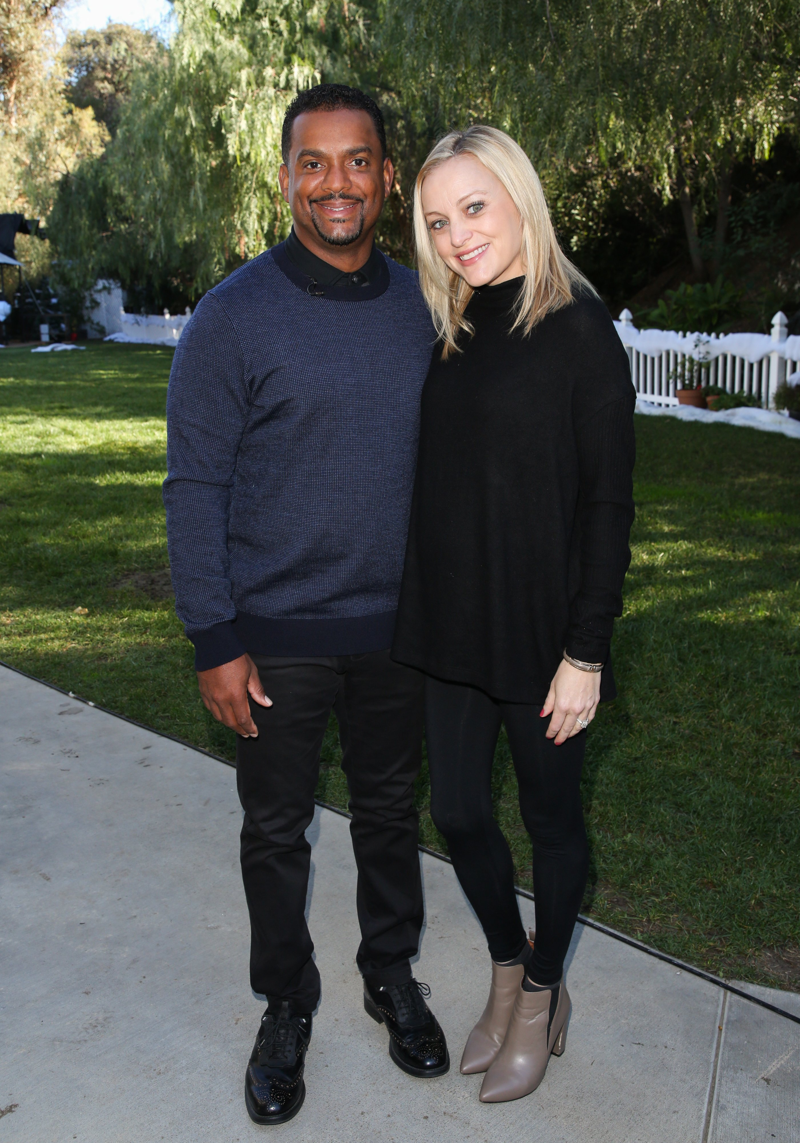 "Alfonso Ribeiro & Angela Ribeiro visit Hallmark's ""Home & Family"" on Dec. 15, 2018 in California 