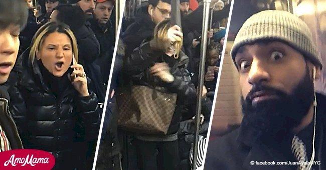 Une femme raciste furieuse attaque une femme asiatique dans le métro avec son parapluie