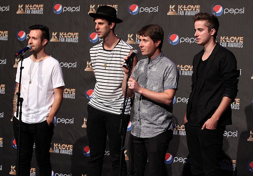 Jon Steingard, David Niacaris, Daniel Biro and Micah Kuiper of musical group Hawk Nelson at the 3rd Annual KLOVE Fan Awards on May 31, 2015. | Photo: Getty Images