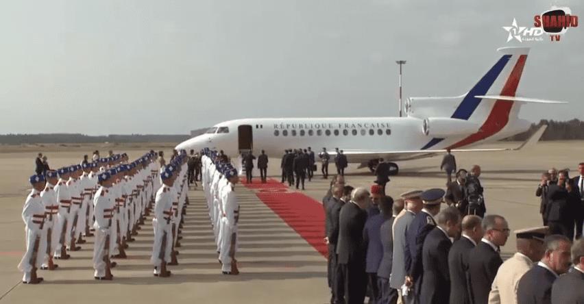 Arrivée au Maroc du président français Emmanuel Macron   Youtube : Buzz News