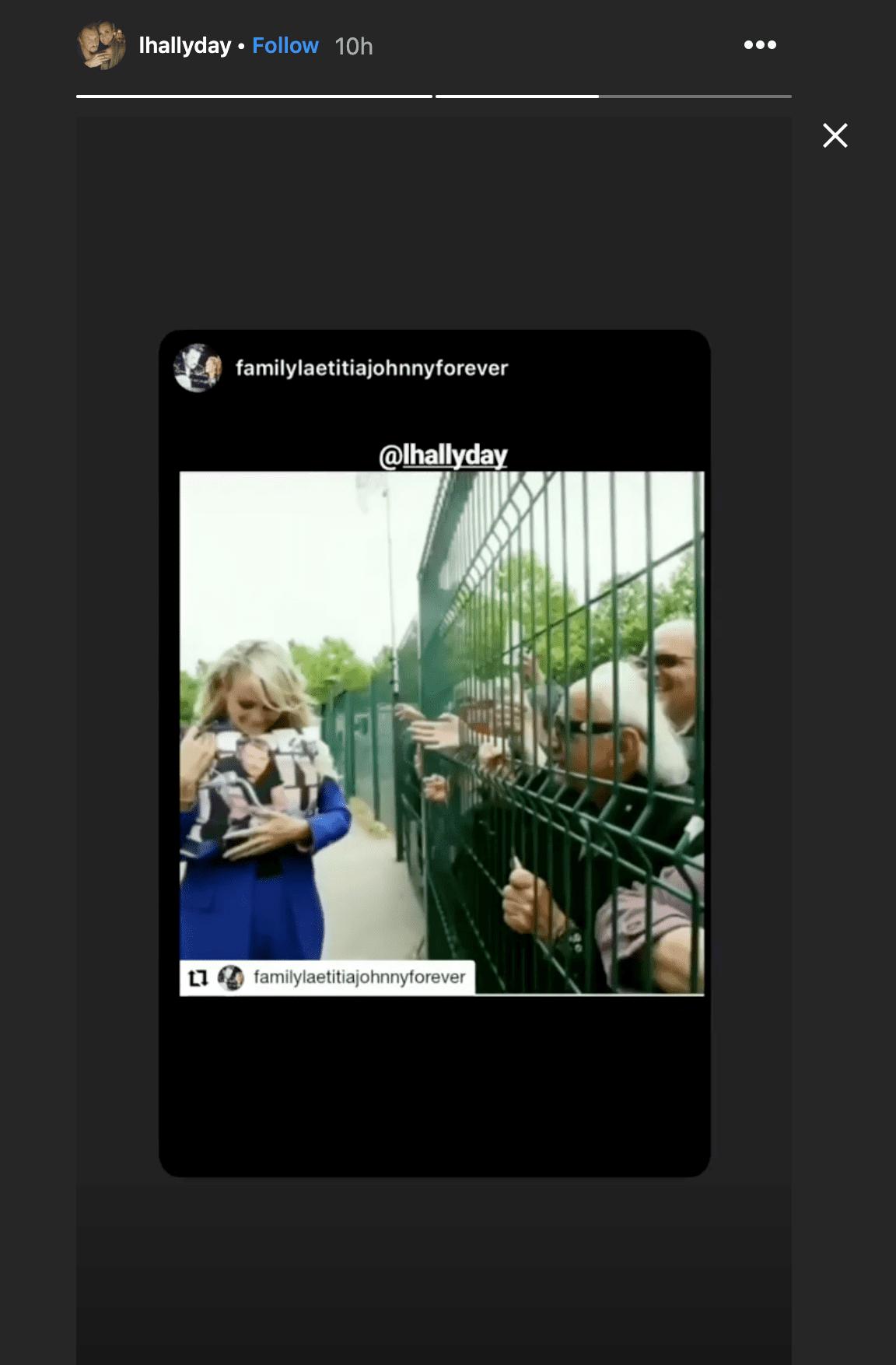 capture d'écran de la story de Laeticia Hallyday - Ihallyday   Instagram