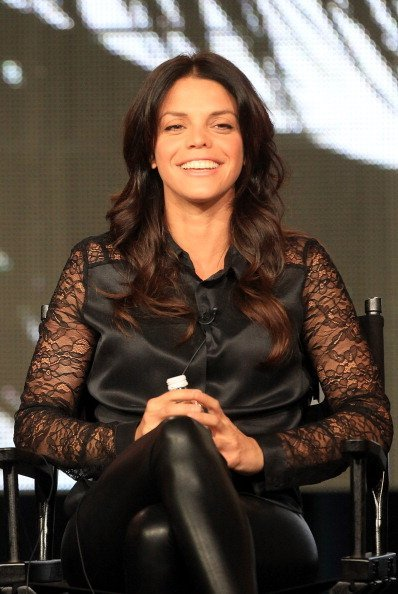 """Vanessa Ferlito speaks onstage at the """"Graceland"""" panel discussion during the USA portion of the 2013 Winter TCA Tour- Day 4 on January 7, 2013 