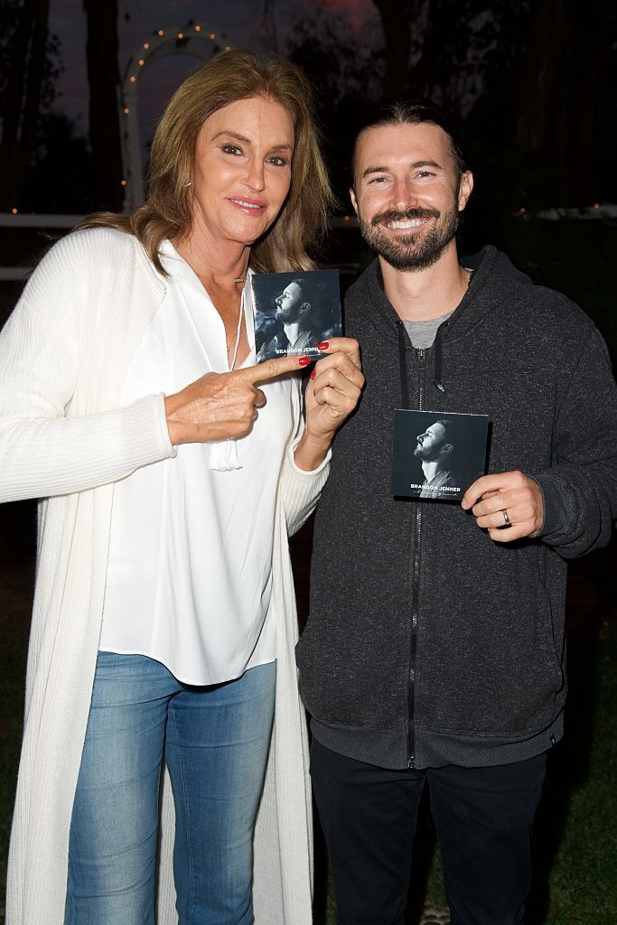 """Caitlyn Jenner and Brandon Jenner at his record release party for """"Burning Ground"""" in 2016 in Malibu, California   Source: Getty Images"""