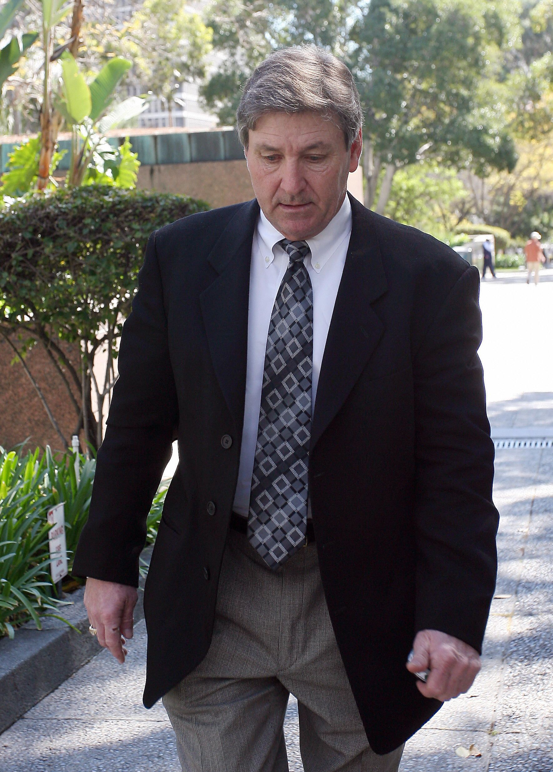 Britney Spears' father, Jamie Spears, at the Los Angeles County Superior courthouse on March 10, 2008   Photo: Getty Images