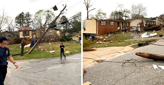 Alabama Hit with Multiple Tornadoes Killing Almost 5 People, Injuring Many & Damaged Buildings