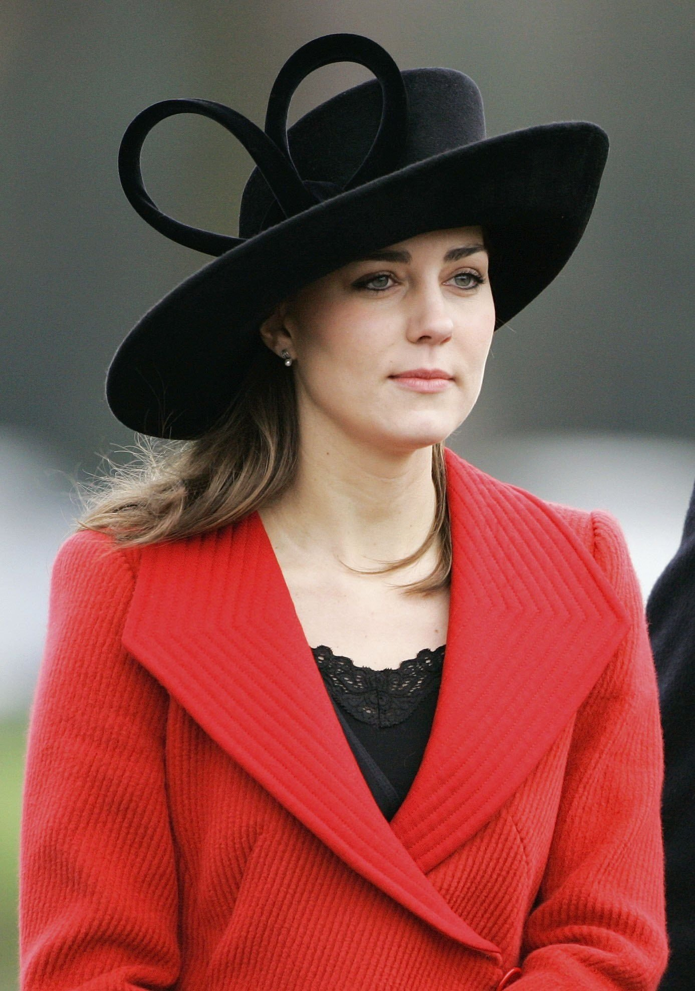 Kate Middleton during the Sovereign's Parade at Sandhurst Military Academy to watch the passing-out parade on December 15, 2006 in Surrey, England. | Source: Getty Images