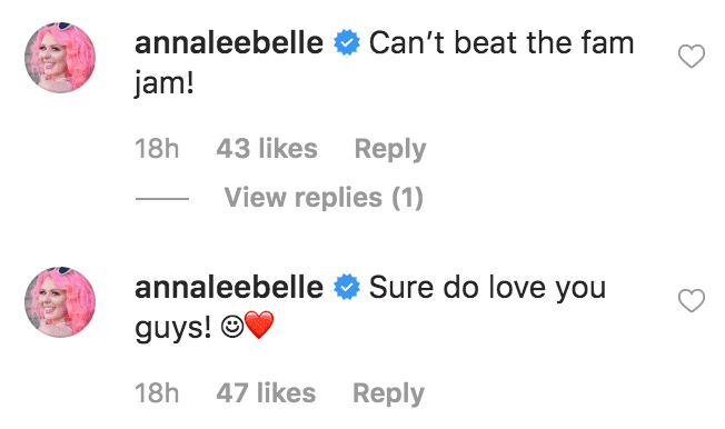 """Annalee Belle comment's on JD Scott's picture of him posing with his brothers, """"Property Brother"""" stars, Johnathan Scott and Drew Scott