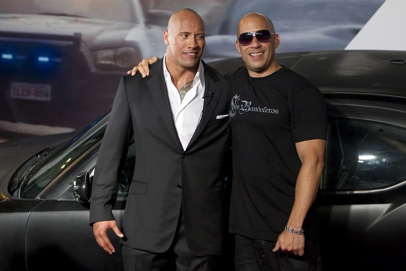 Dwayne Johnson and Vin Diesel on April 15, 2011 in Rio de Janeiro, Brazil | Photo: Getty Images