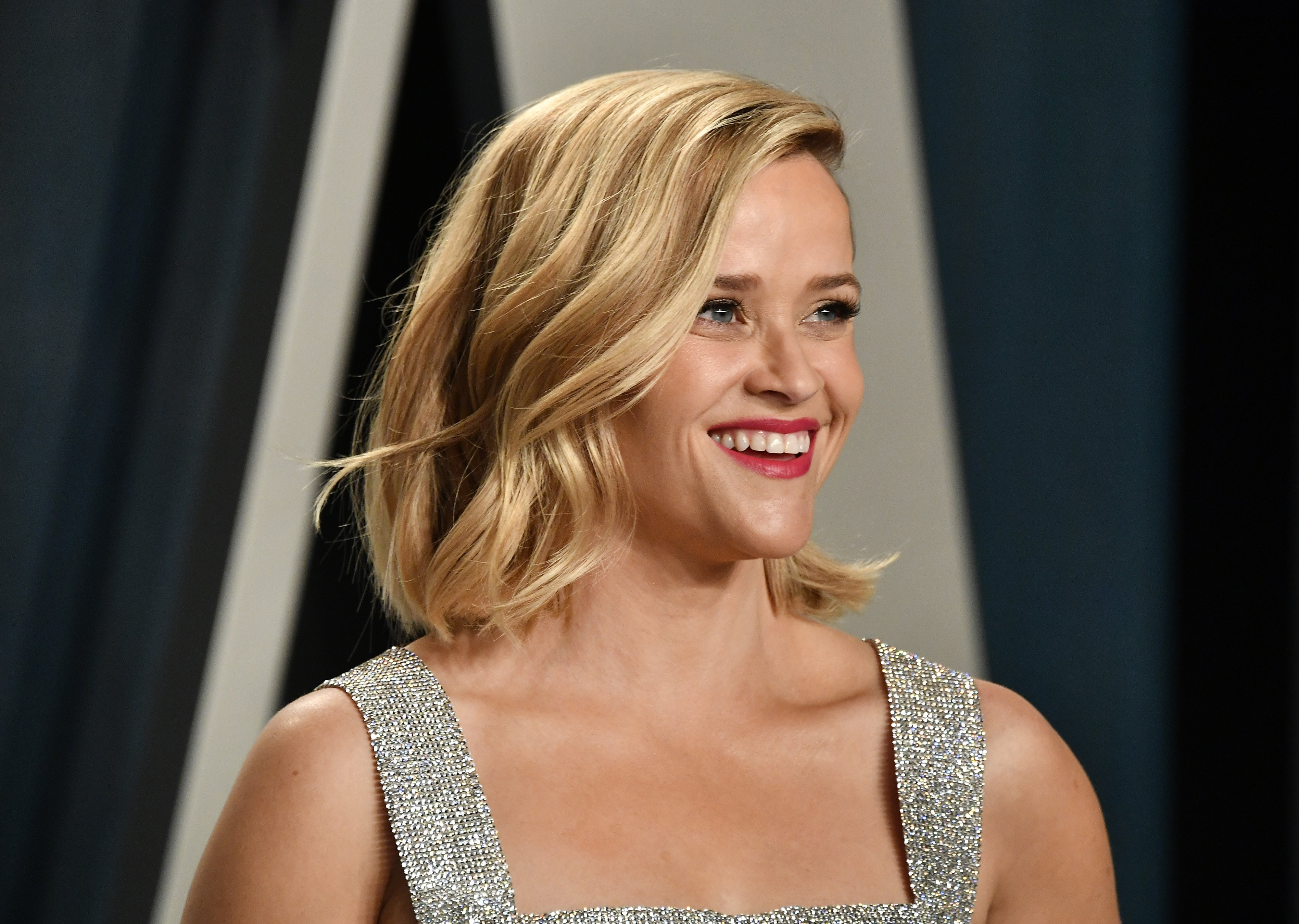 Reese Witherspoon attends the 2020 Vanity Fair Oscar Party at Wallis Annenberg Center on February 09, 2020 in Beverly Hills, California   Photo: Getty Images