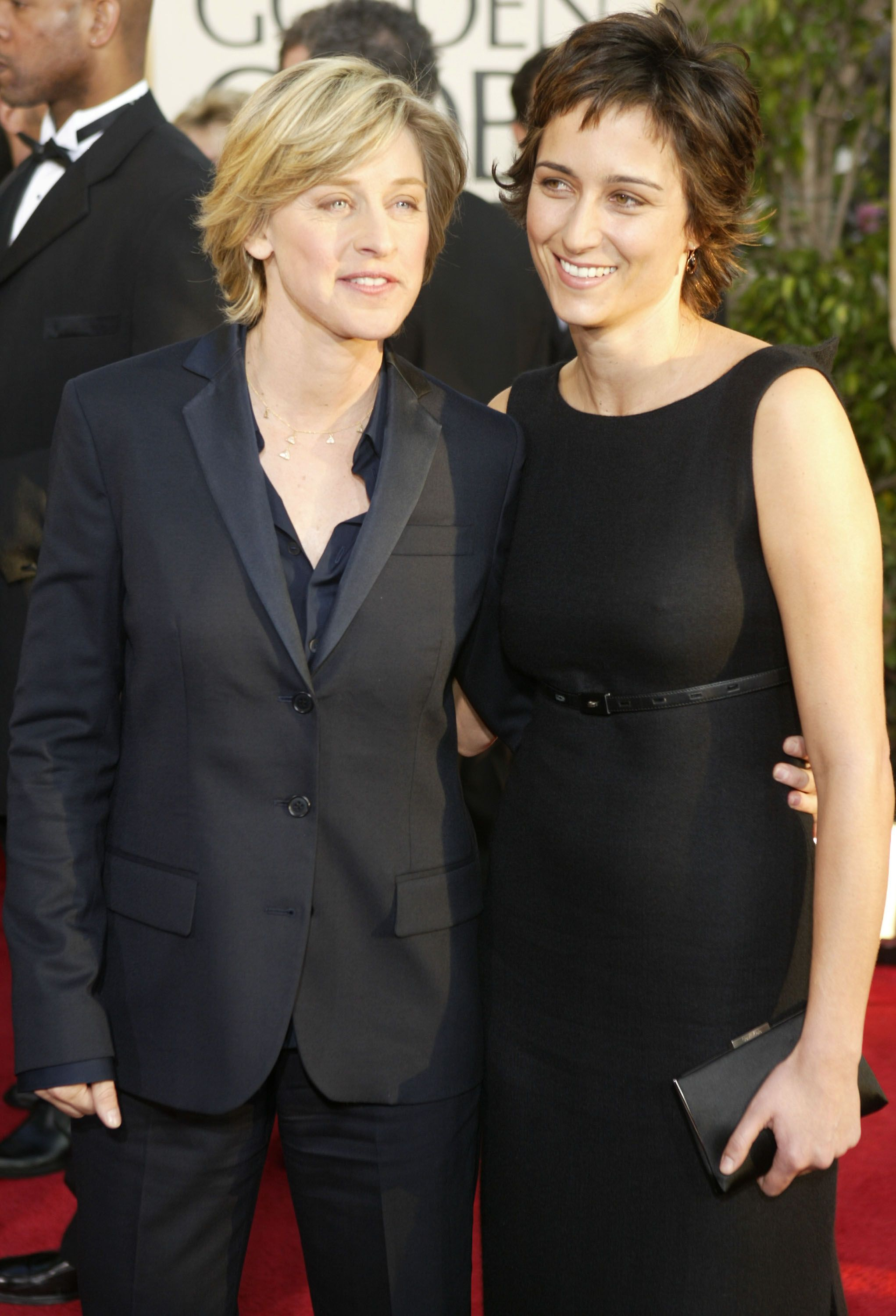 Ellen DeGeneres and Alexandra Hedison at the 61st Annual Golden Globe Awards in 2004   Source: Getty Images