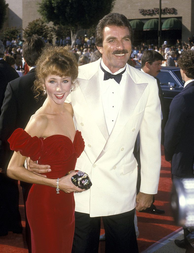 Tom Selleck and Jillie Mack at the 38th Annual Primetime Emmy Awards at Pasadena Civic Auditorium in Pasadena, California, United States. | Source: Getty Images