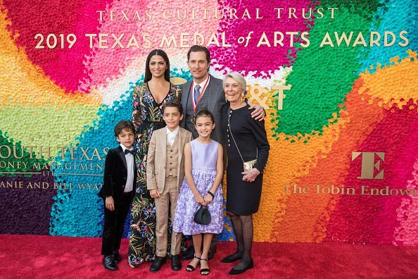 Matthew McConaughey and family attending Texas Medal Of Arts Awards | Photo Getty Images