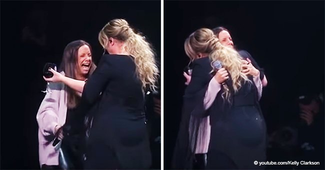 Kelly Clarkson Calls a Girl from the Crowd on Stage and the Fan's Reaction Is Priceless
