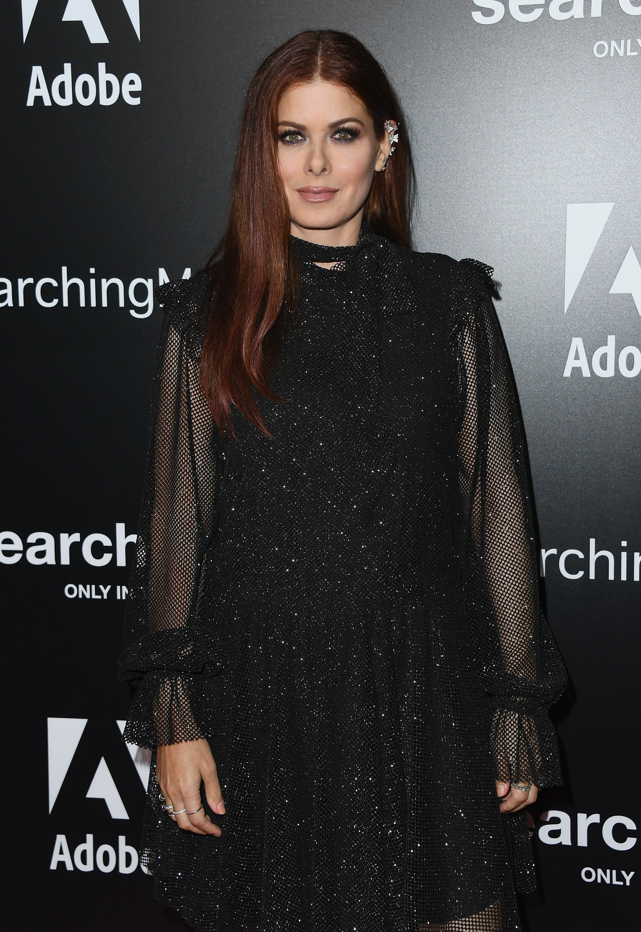 "Debra Messing attends the screening of Stage 6 Films' ""Searching"" at ArcLight Hollywood on August 20, 2018, in Hollywood, California. 