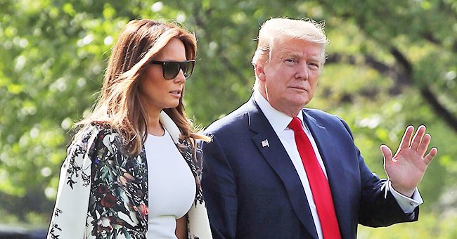 Melania Trump Flaunts Chic Cream Suit to Offer Words of Support on National Prayer Day
