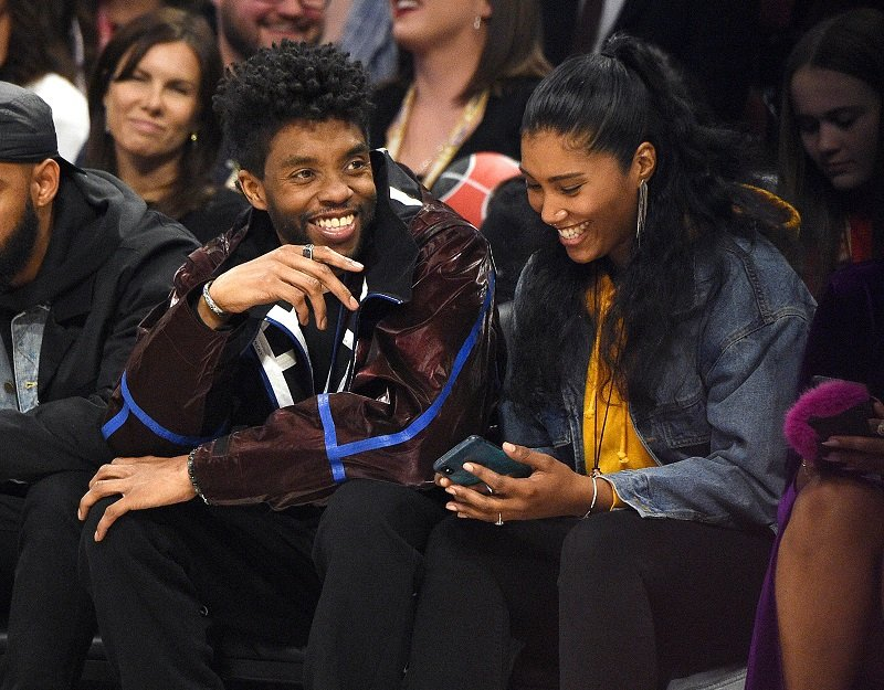 Actor Chadwick Boseman and singer Taylor Simone Ledward on February 16, 2020 in Chicago, Illinois | Photo: Getty Images