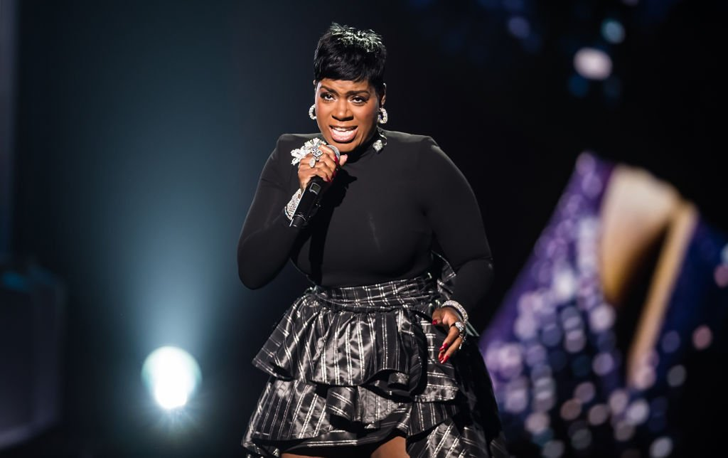 """""""American Idol"""" star Fantasia Barrino belts out a song during the 2018 Black Girls Rock! concert  