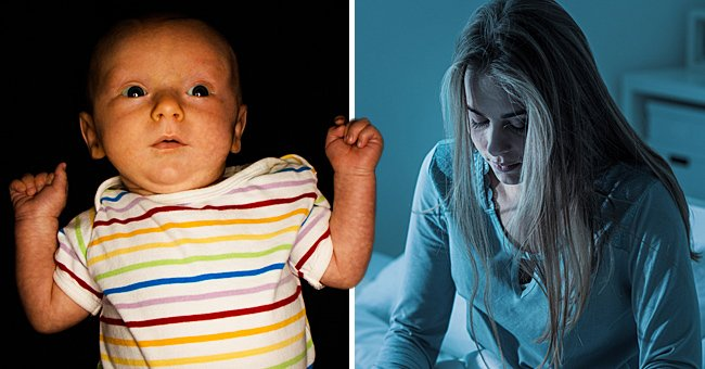 Mom Cannot Sleep Because Her Baby Sees Something on the Ceiling – Story of the Day