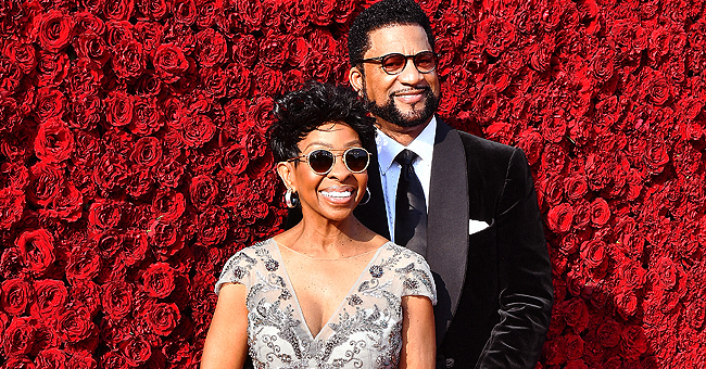 Gladys Knight Rocks White Feathered Gown & Sunglasses as She Hits the Red Carpet with Husband William McDowell