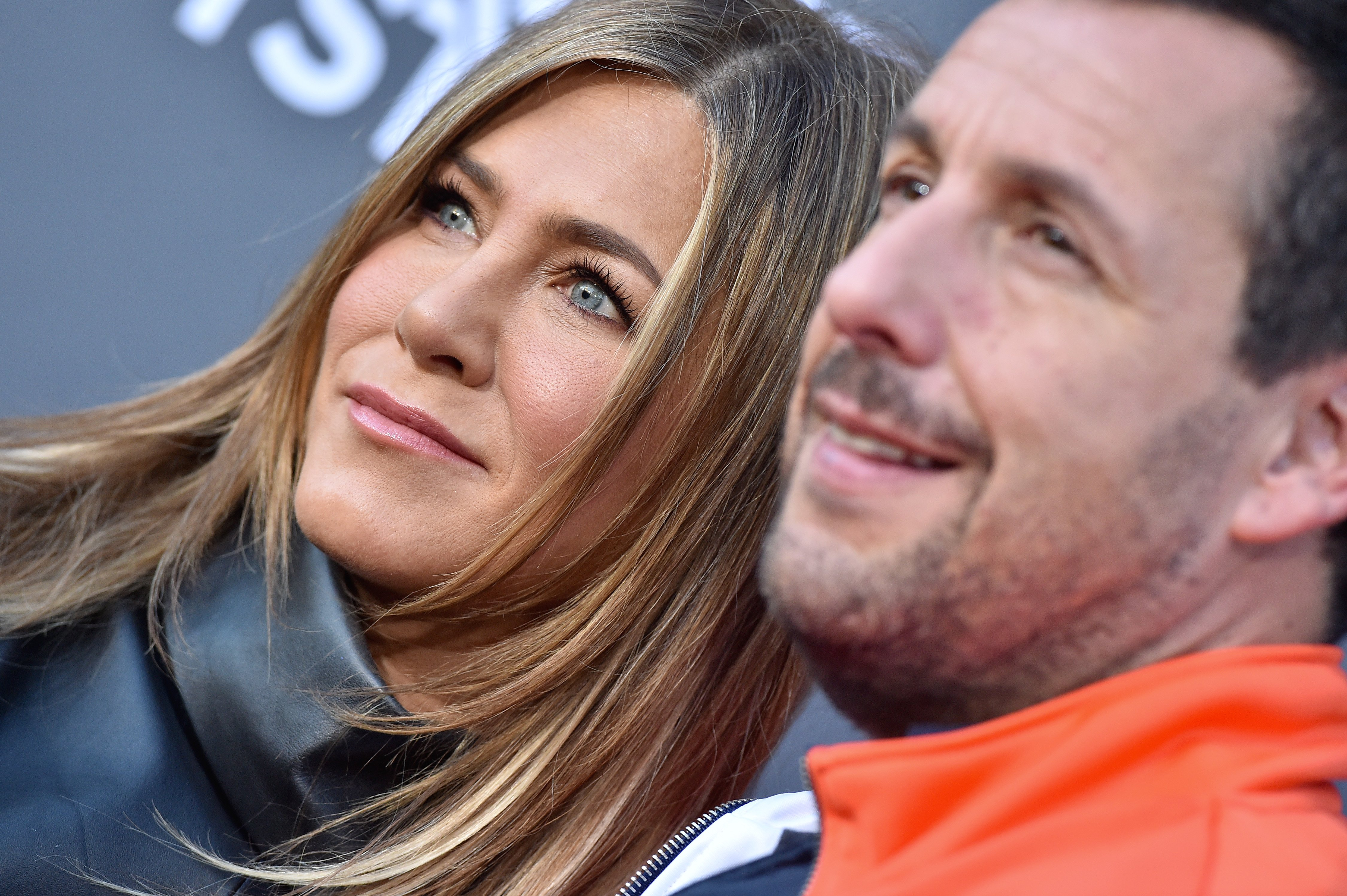 """Jennifer Aniston and Adam Sandler at the LA premiere of """"Murder Mystery,"""" 2019 