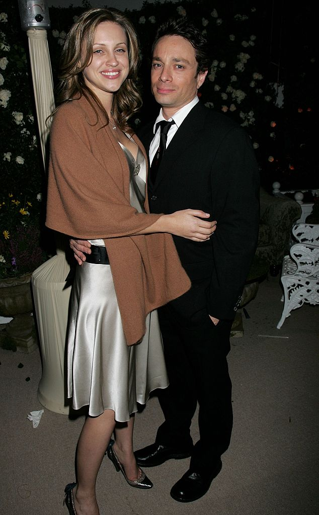 Chris Kattan (R) and actress Sunshine Deia Tutt attend the Weinstein Co. Golden Globe after party | Getty Images