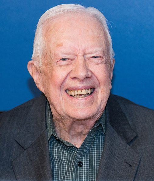 Former president Jimmy Carter at the Barnes & Noble bookstore in New York City | Photo: Getty Images
