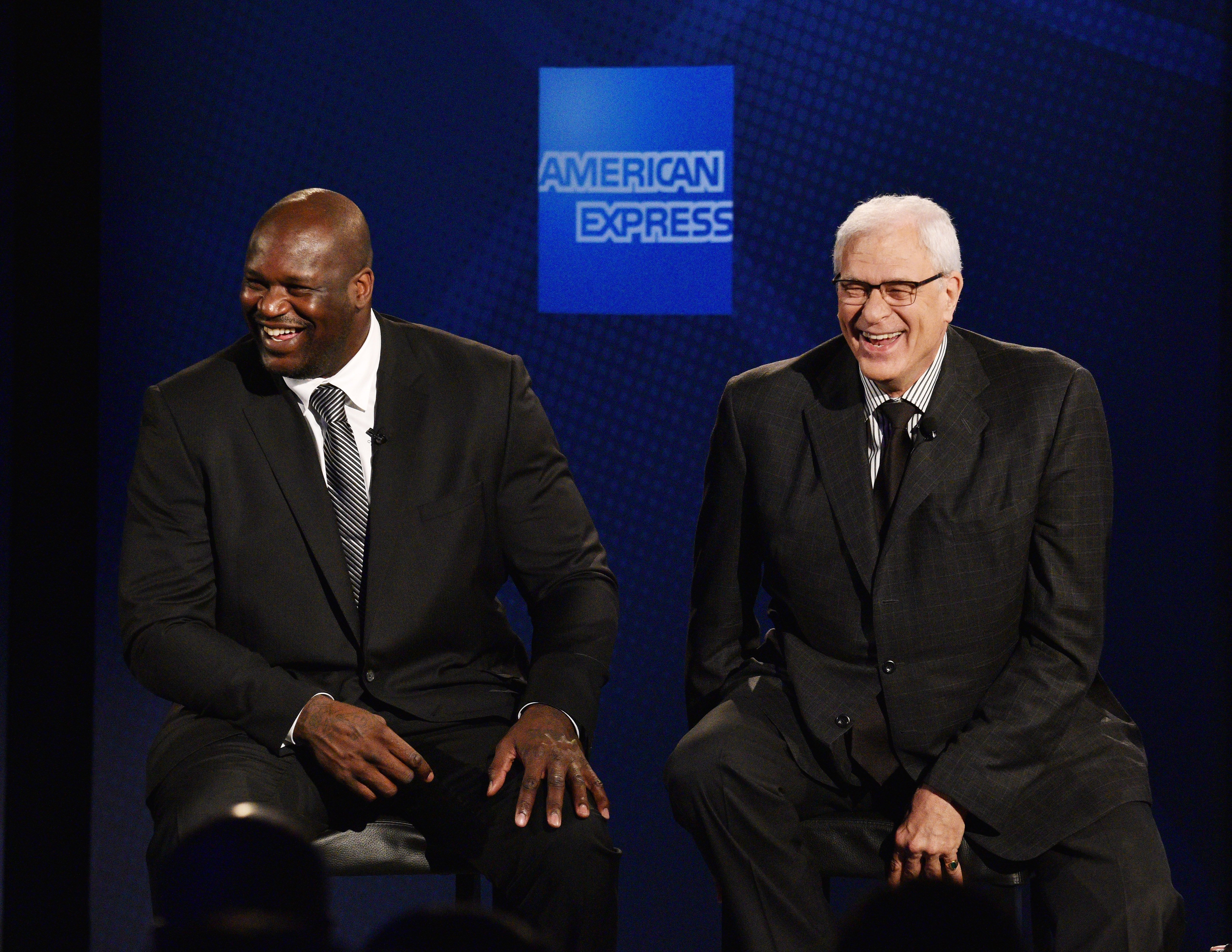 Shaquille O'Neal and Phil Jackson at the Altman Building on June 6, 2016 | Photo: Getty Images